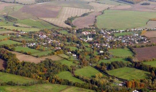 A bird's eye view of Braughing Parish