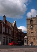 Image shows the Morpeth Clocktower